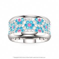 Colors of Eden's Coquette Ring silver @swarovski flower fashion band