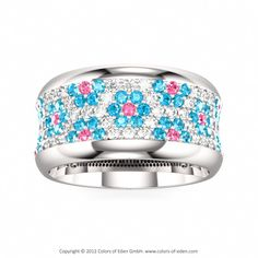 Colors of Eden's Coquette Ring silver @swarovski flower fashion band