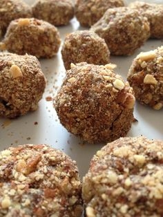 Paleo Banana Nut Balls...I am not doing the Paleo thing but these sure sound yummy!!