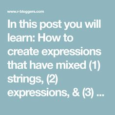 """In this post you will learn: How to create expressions that have mixed(1) strings, (2) expressions, & (3) numbers How to pass in values as variables to an expression I wanted to name this post """"Ahhhhhhhhhhh #$@%&!!!!"""" but SEO isn't … Continue reading →"""