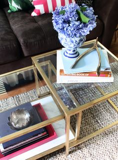 gold ikea coffee table
