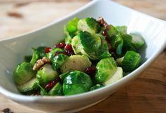 Brussels Sprouts Salad with Cranberries & Walnuts by @Alison Lewis
