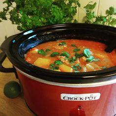 Edel's Mat & Vin : Crock-Pot svinegryte i hot tomatsaus !