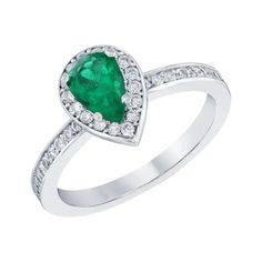 Roshe Jewels Jewelry - 616 For Sale at 1stdibs Emerald Diamond, Round Cut Diamond, Pear Cut Engagement Rings, White Gold Rings, Halo, Heart Ring, Roshe, Jewels, Earrings