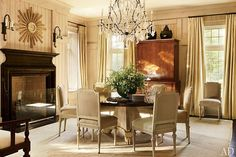 Fontaine chandelier by Dennis & Leen - a Suzanne Kasler house featured in Architectural Digest