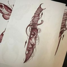 I have some space tomorrow for a pre drawn piece! This knife is available. Drop me an email if you down! Jasonjamestattoos@gmail.com #tattoo #neotraditional #tattoos #art #artist #knife #drawing #sketch