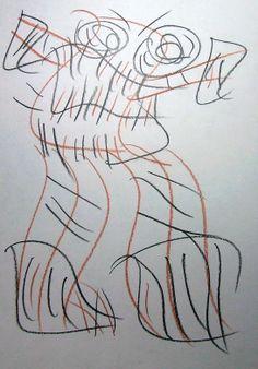 """Robot cattivo"" 2012 Tecnica mista su carta 29,5x21 ©Pietro Gargano"