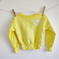 Vintage Children Roots Sweatshirt  Sunny Yellow  by mituvintage