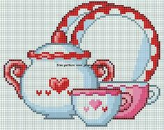 A Teapot and Dishes