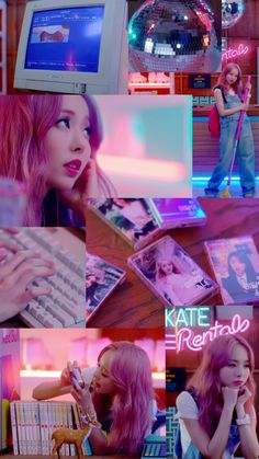 Kpop Girl Groups, Korean Girl Groups, Kpop Girls, Lip Wallpaper, Wallpaper Backgrounds, Poster Wall, Homescreen, South Korean Girls, Wall Collage