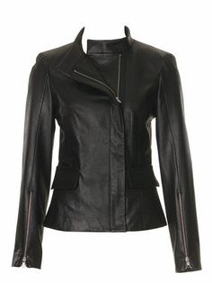 Leather Fitted Jacket 09/2010 #107 – Sewing Patterns | BurdaStyle.com