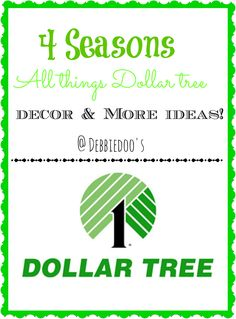 #dollartree seasonal decorating ideas. All 4 seasons in one place
