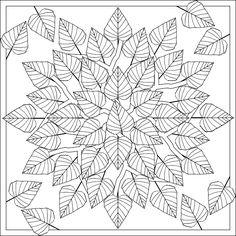 coloring page, cool embroidery mandala idea
