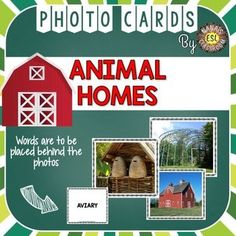 30 Photo Flash Cards are included in this product. Most common Animal Homes are represented in the photo cards and can be used with any type of student, for instance with ESL or in speech therapy, when introducing Animal Homes or any topic connected to animals.