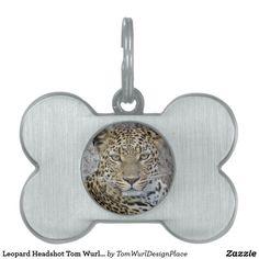 Leopard Headshot Pet Tag
