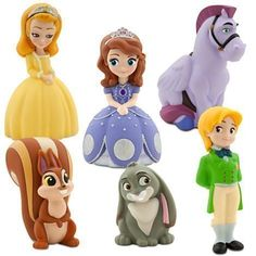 Disney Junior SOFIA THE FIRST 6 Piece Bath Set Featuring Sofia the First Prince James Clover Whatnaught Minimus and Princess Amber Bath Toys Measuring 2 to 5 Inches Tall >>> Click image to review more details.Note:It is affiliate link to Amazon. #LetYourBabytoPlay