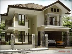 Shelter is a vital primary want. It ought to be optimized to offer nice consolation. Bungalow Home Designs are drawn to. Two Story House Design, 2 Storey House Design, Bungalow House Design, House Front Design, Modern Bungalow House, Bungalow Homes, Modern Exterior House Designs, Modern House Design, Model House Plan