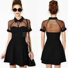 Slim Hollow Out Mesh Shoulder Chiffon Splicing Dress – Island Market