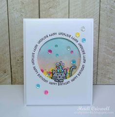 Simon Says Stamps Sentimental Circles Shaker Card | by craftytime4u