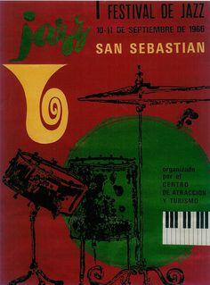 San Sebastian´s Jazz Festival poster 1966