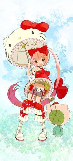 Random-ass Hello Kitty outfit - soo kawaii
