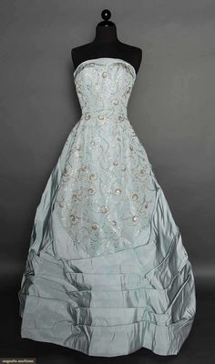 Antonelli Silk Ballgown, 1950s, for upcoming auction. #1950s
