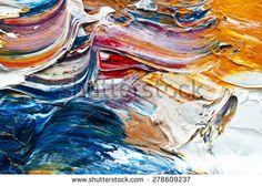colorful oil paint on a palette