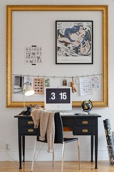 """I like the idea of """"containing"""" the inspiration board within the statement frame!"""