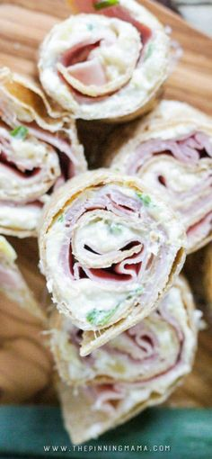 Easiest and tastiest appetizer recipe! Ham Pineapple and cream cheese all wrapped up in a bite sized treat! I have to make extras or my kids and husband eat them all before I can finish making them!