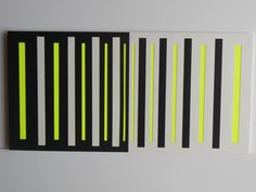 """#art """" Noir et blanc…et jaune ! """"  Diptyque 40*20 cm. Découpage/Collage. Papier Vivaldi,papier dessin à grain,papier fluo. Collage sur carton.  un-monde-de-papier.tumblr.com"""