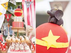 Birthday party ideas-- invitations, decorations, cupcakes, cake, cake pops, printables  Under the Big Top Circus Party {+ Kids Costumes} // Hostess with ...