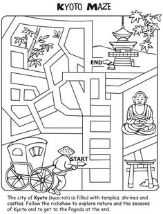 Let's Learn About JAPAN: Activity and Colouring Book - page 5 of 7