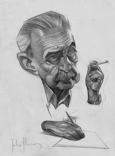 Juan Gelman - Julio Ibarra Caricaturas - ibarracaricatura@gmail.com