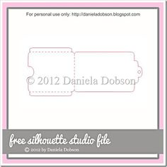 free gift card holder cut file - by Daniela at Create Your Everyday #Silhouette #CutFile