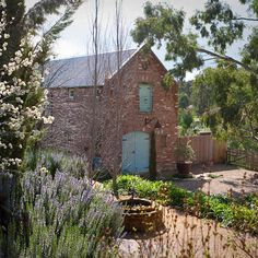 "A stunning cottage guesthouse in Central Victoria Australia known as the ""Red Brick Barn"". Country Life, Country Style, Country French, My Scandinavian Home, Brick Shed, Recycled Brick, Recycled Materials, Melbourne, Turbulence Deco"