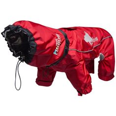 Small Red Weather-King Ultimate Windproof Full Bodied Pet Jacket