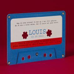 Muzikale cassette kaartje