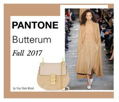 """Pantone Fall 2017 report"" by yourstylemood ❤ liked on Polyvore featuring Chloé, pantone, fall2017 and pantonefall2017"