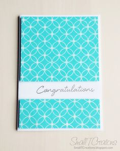Clean & Simple Congratulations Card for the Creative Blog Hop | Small T Creations