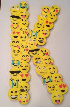 Emoji Initial Cupcake Cake