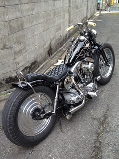 80s shovelhead on the street : 画像
