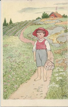Elsa Beskow 4 | by neintje Elsa Beskow, Vintage Book Art, Vintage Artwork, Vintage Children, Vintage Boys, Scandinavian Art, Art Reference Poses, Children's Book Illustration, Illustrations And Posters
