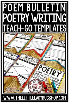 You will love these Poetry Writing Poster Pennants that are perfect for you to use as your students master studying these poems. Your students will love seeing these displayed on bulletin boards after they are complete! This Poetry Writing works perfectly for students in 2nd grade, 3rd grade, 4th grade. #poetrywriting #poetrybulletinboard