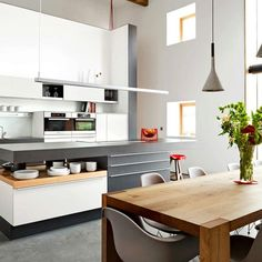 Poggenpohl Kitchens   Searle & Taylor Kitchens in Hampshire and London Modern Kitchen Cabinets, Kitchen Cabinet Design, Kitchen Ideas, Contemporary, Table, Rest, Inspiration, Furniture, Hampshire