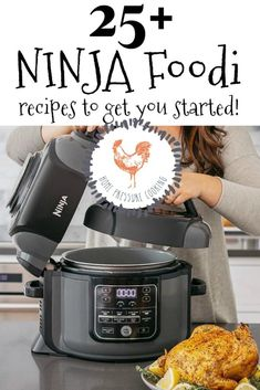 NINJA FOODI recipes to get you started today! Here are tried and true Ninja Foodi recipes to get you started on your tasty journey! Everything from mac and cheese to Keto friendly recipes and more! Ninja Recipes, Healthy Recipes, Gourmet Recipes, Crockpot Recipes, Chicken Recipes, Casserole Recipes, Easy Recipes, Healthy Food, Dinner Recipes