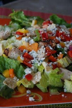 Tropical Chicken Salad--perfect for any women's lunch or get-together.  The creamy mango dressing is amazing!!