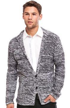 Marled Sweater Blazer - Sweaters - Mens - Armani Exchange