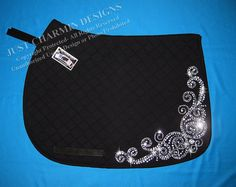 JCD- Just Charmin Designs- Crystal Bling English Dressage Hunter Jumper All Purpose Horse Pony Show Saddle Blanket Pad on Etsy, $165.00