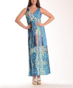 Look at this #zulilyfind! Blue Tribal Maxi Dress - Plus by Shoreline #zulilyfinds