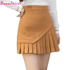 fashion pleated skirt on sale at reasonable prices, buy Woolen Pleated Skirt Women Korean Fashion High Waist Sexy Mini Skirts Black Gray Khaki from mobile site on Aliexpress Now! Skirt Outfits, Casual Outfits, Cute Outfits, Fashion Sewing, Steampunk Fashion, Gothic Fashion, Gothic Steampunk, Steampunk Clothing, Cute Skirts